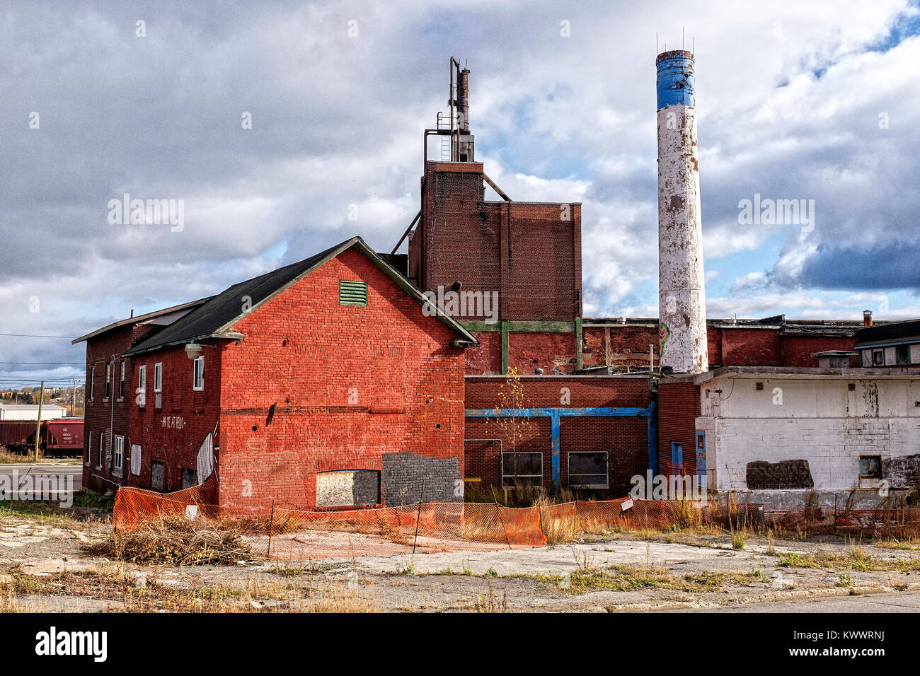 The old Doran's Brewery building, and old Sudbury landmark - Stock Image
