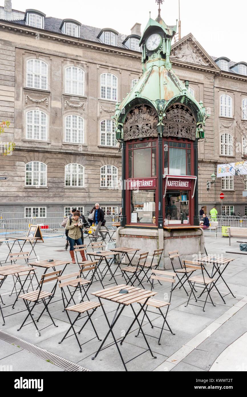 Kaffetarnet, a popular coffee shop in the centre of Copenhagen, Denmark, Europe - Stock Image