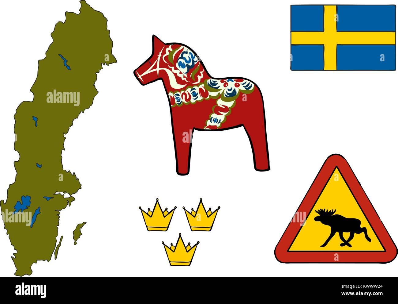 Dalarna Stock Vector Images Alamy