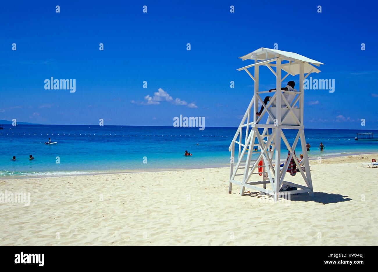 Doctors Cave Beach, Montego Bay, Jamaica - Stock Image