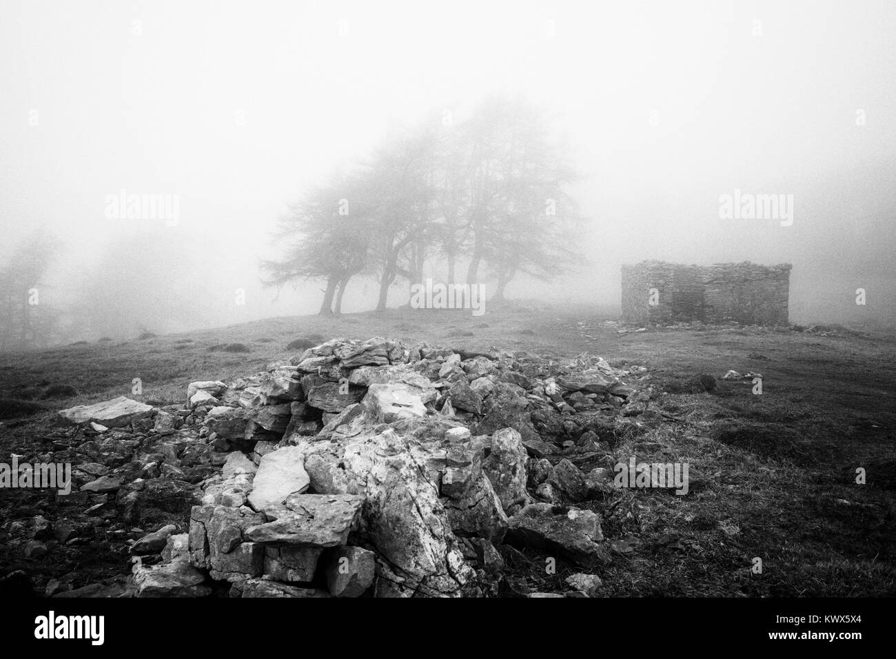 Scout scar in the mist - Stock Image