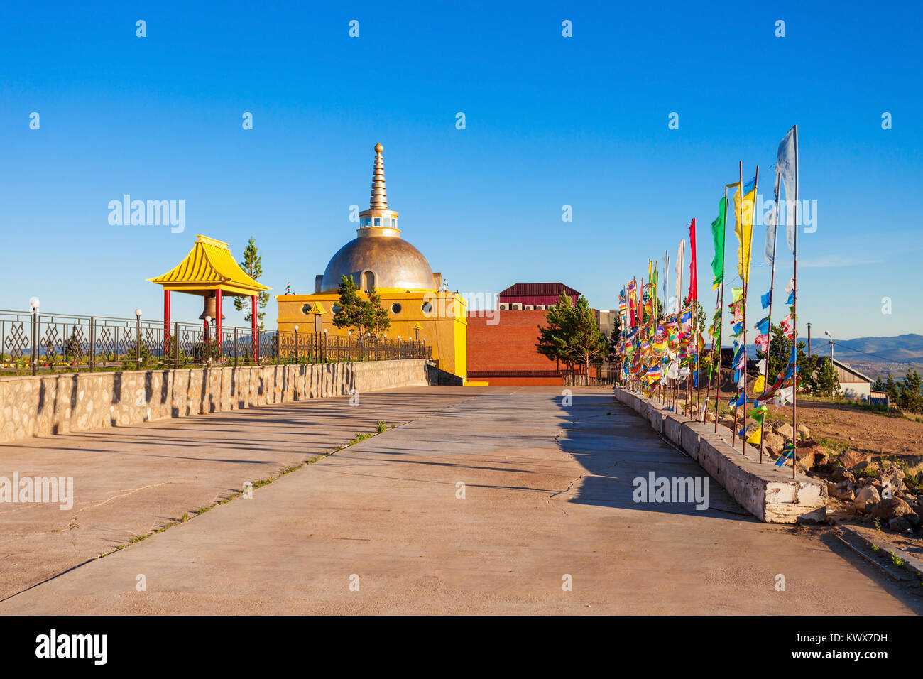 Datsan Rinpoche Bagsha in Ulan-Ude city of the Republic of Buryatia, Russia - Stock Image