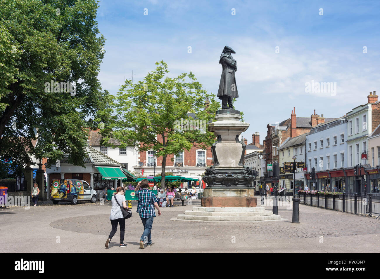 St Paul's Square, Bedford, Bedfordshire, England, United Kingdom - Stock Image