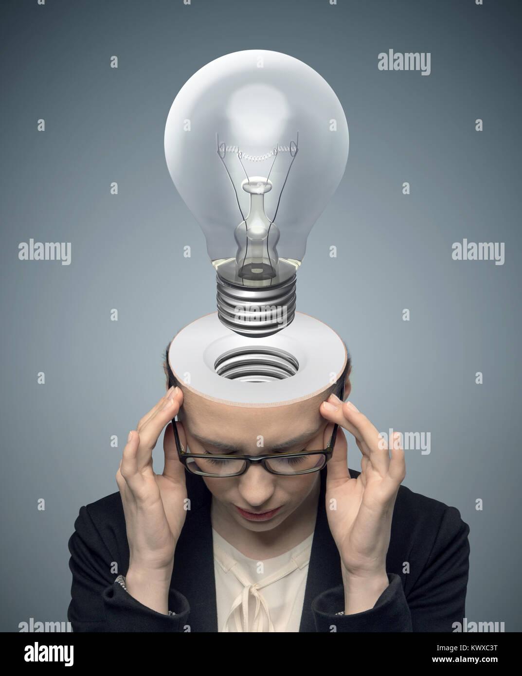 Conceptual image of an fresh idea - Stock Image