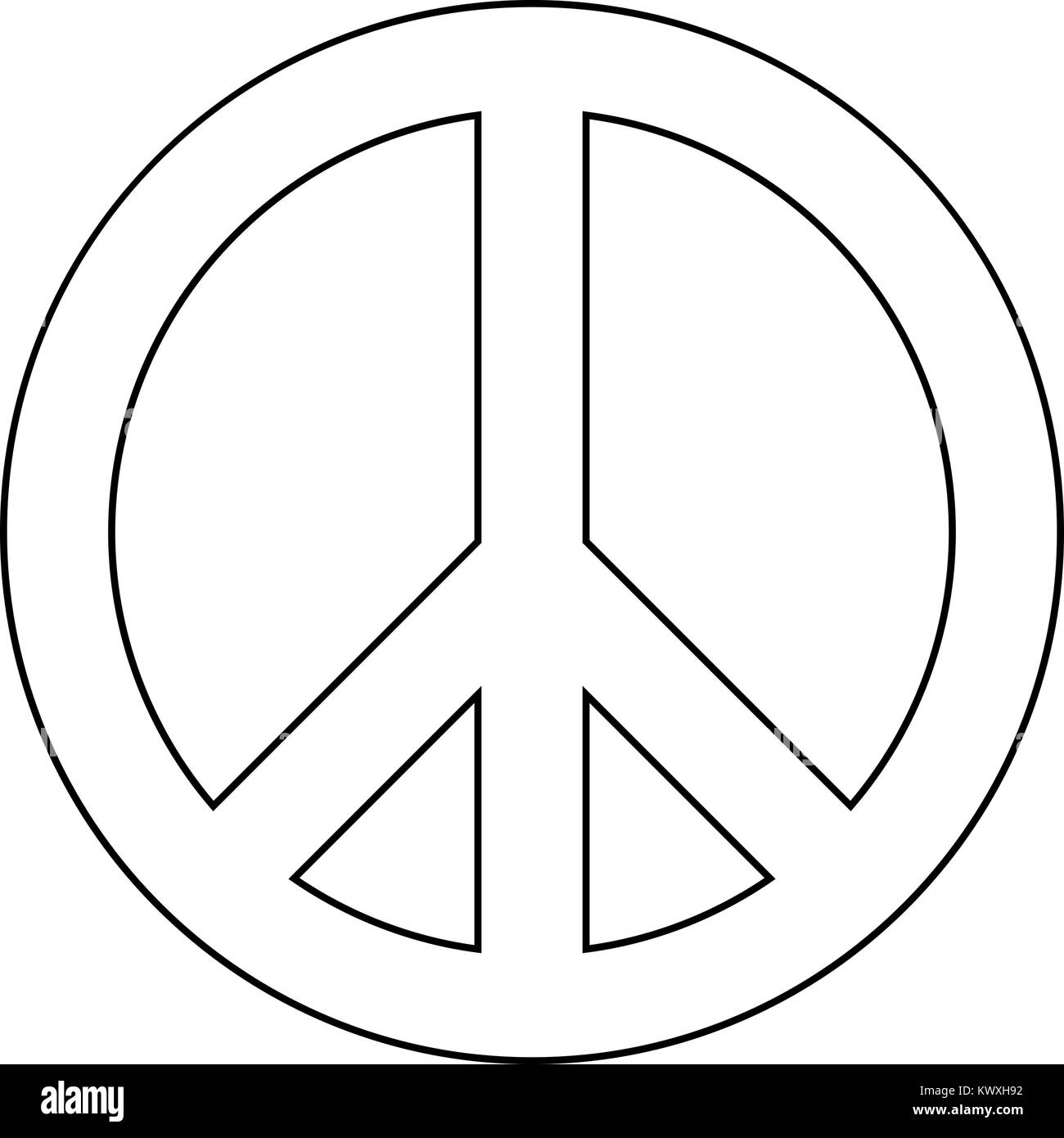 Peace sign stock vector images alamy world peace sign symbol icon black color flat illustration stock vector biocorpaavc Choice Image