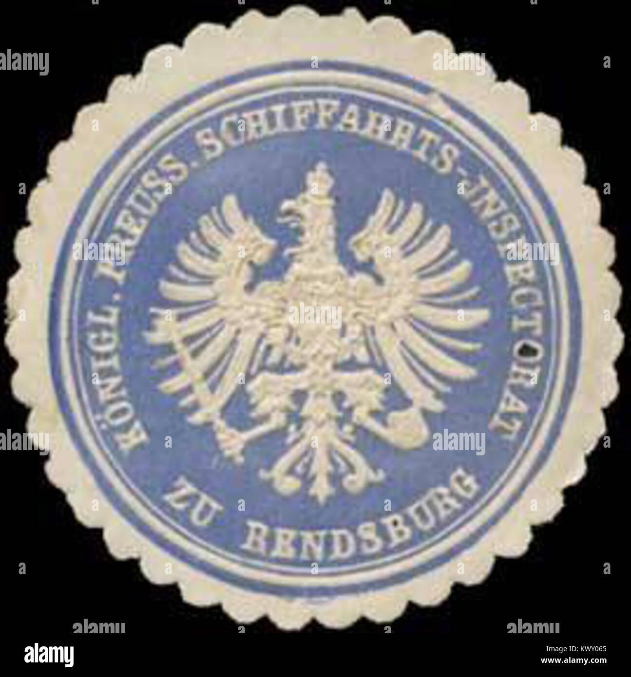 Siegelmarke Königl. Preuss. Schiffahrts-Inspectorat zu Rendsburg W0325860 Stock Photo
