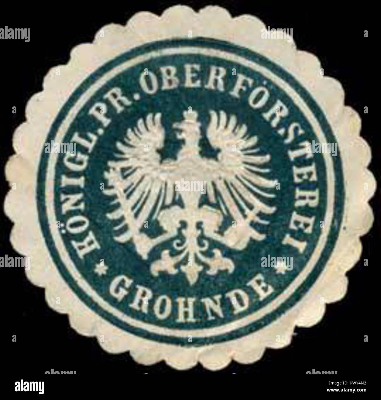 Siegelmarke Königlich Preussische Oberförsterei - Grohnde W0247040 - Stock Image