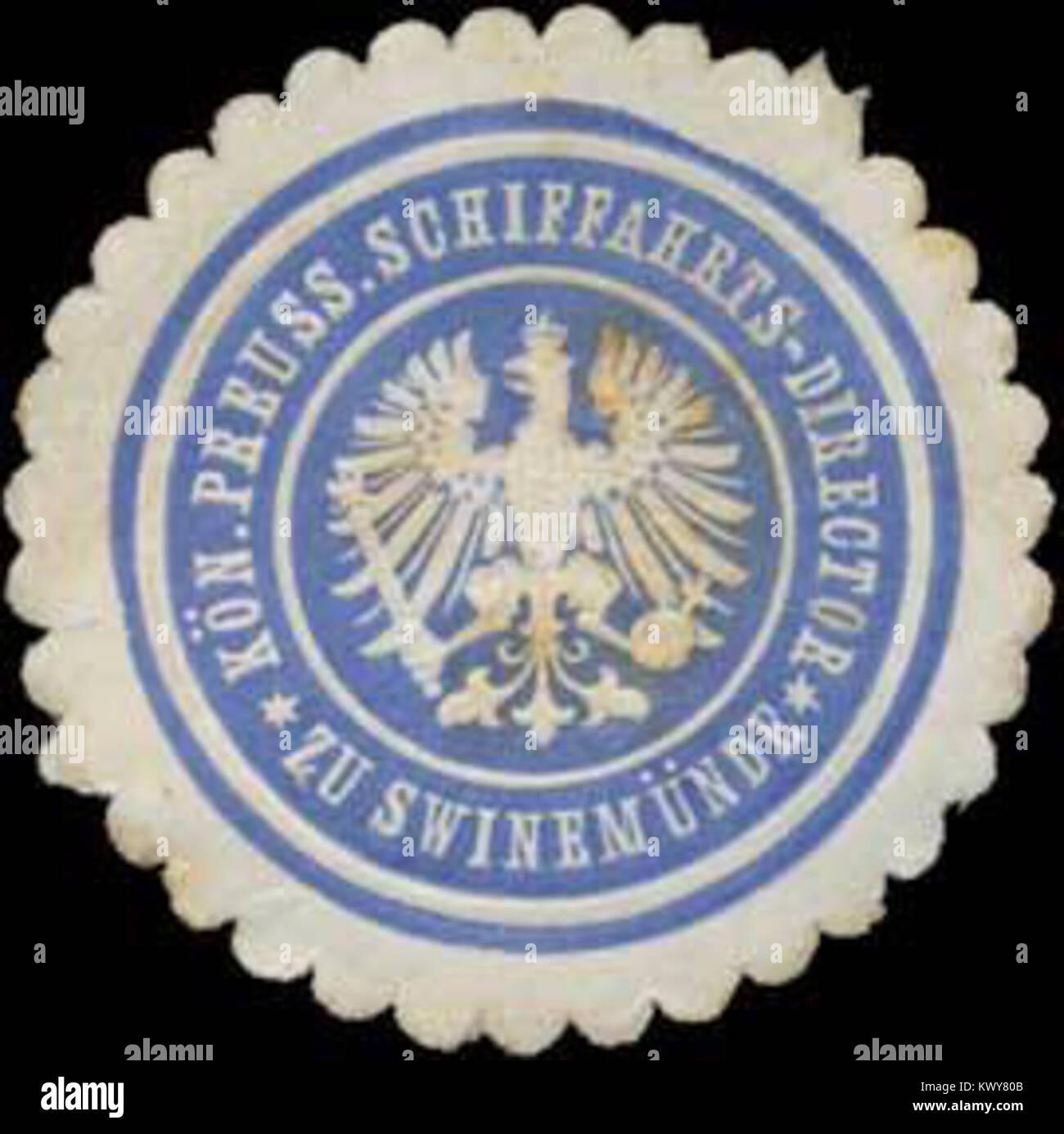 Siegelmarke K.Pr. Schiffahrts-Director zu Swinemünde W0353125 Stock Photo