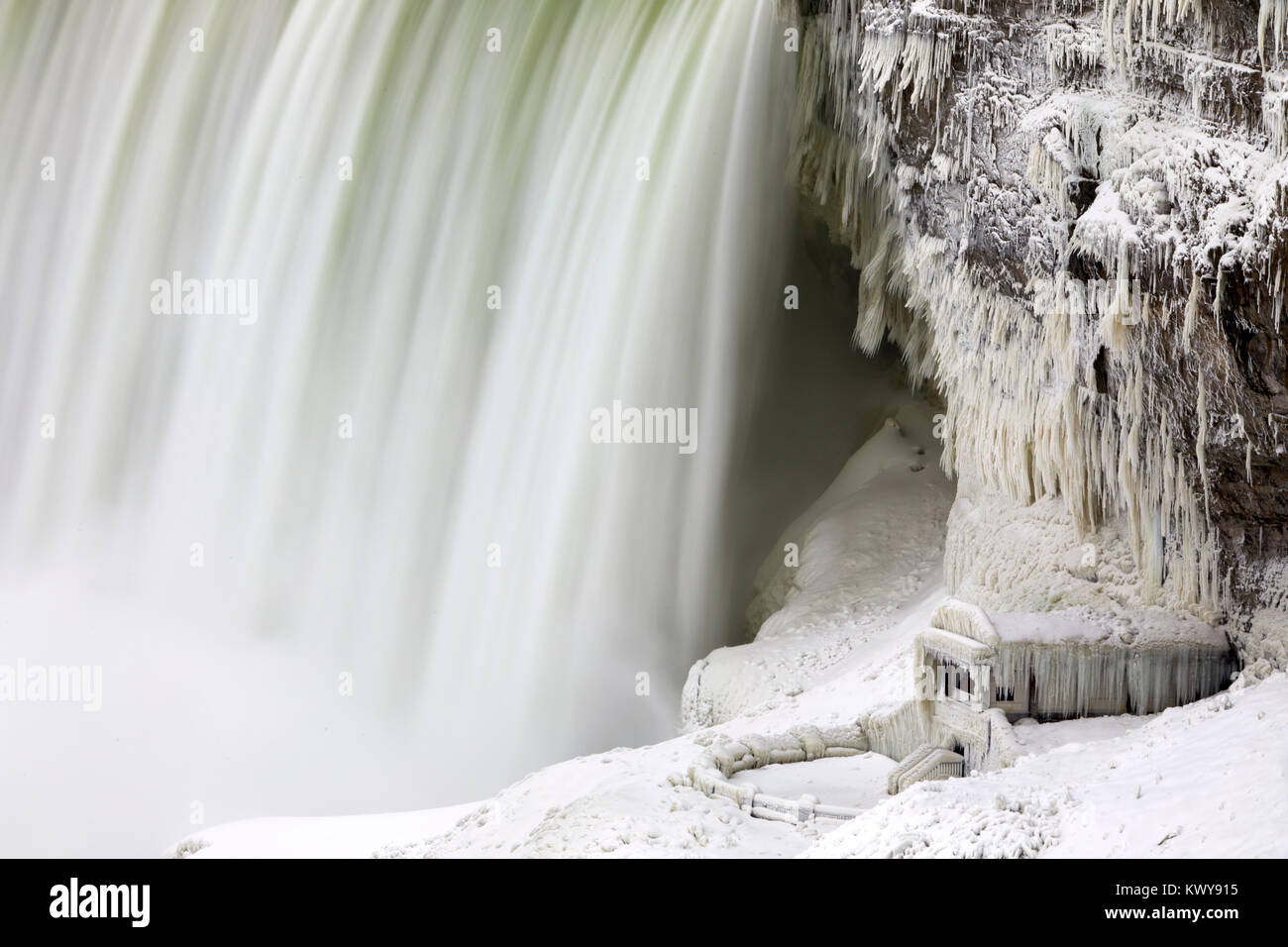 Niagara Falls Ice Studies Jan 2018 Stock Photo 170859505