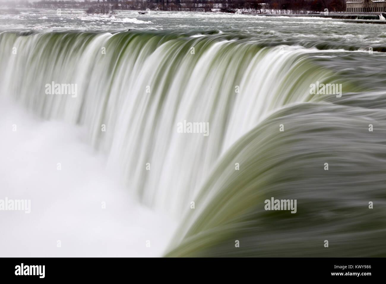 Niagara Falls - Ice Studies Jan 2018 - Stock Image