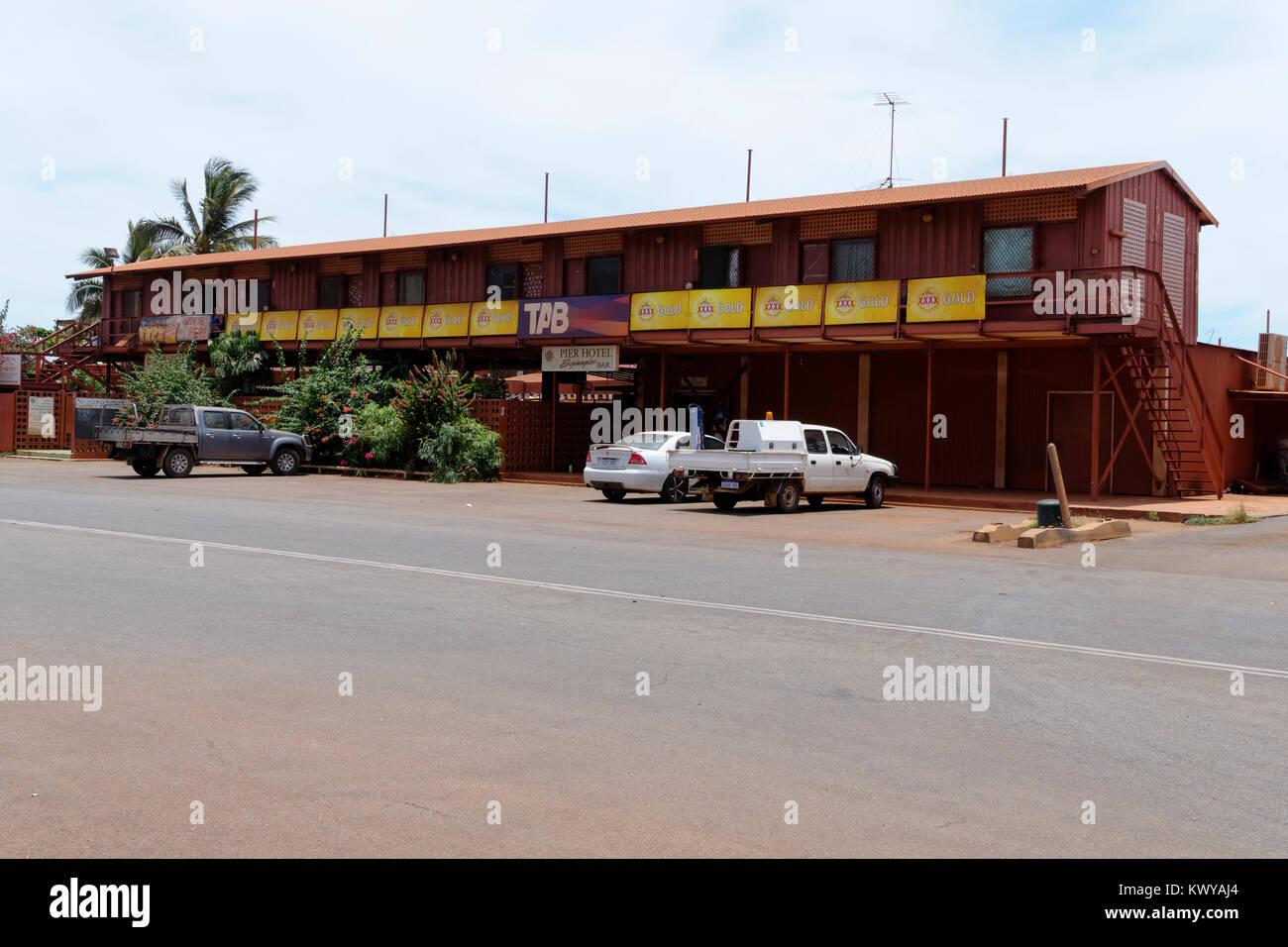 Pier Hotel, Port Hedland, Western Australia - Stock Image