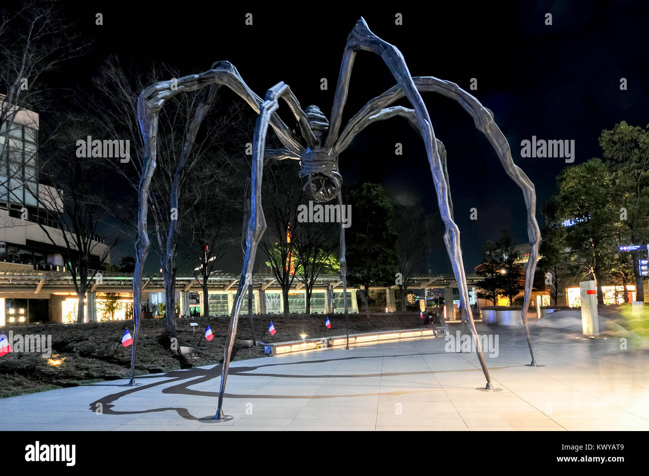 Tokyo, Japan - March 15, 2009: Maman - a spider sculpture by Louise Bourgeois, situated at the base of Mori Tower Stock Photo