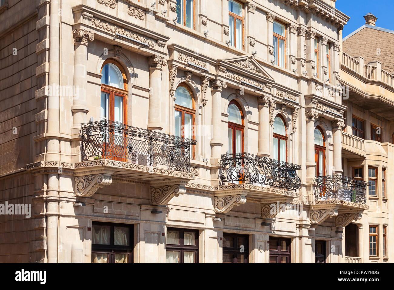 The Old City Icheri Sheher in Baku, Azerbaijan. Inner City is the historical core of Baku and UNESCO World Heritage - Stock Image