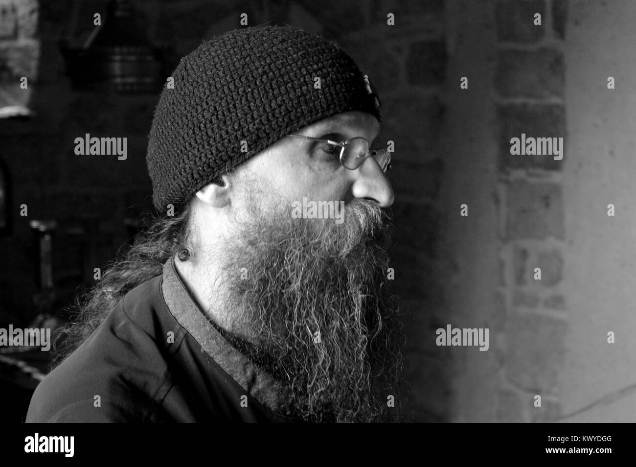 old monk - Stock Image