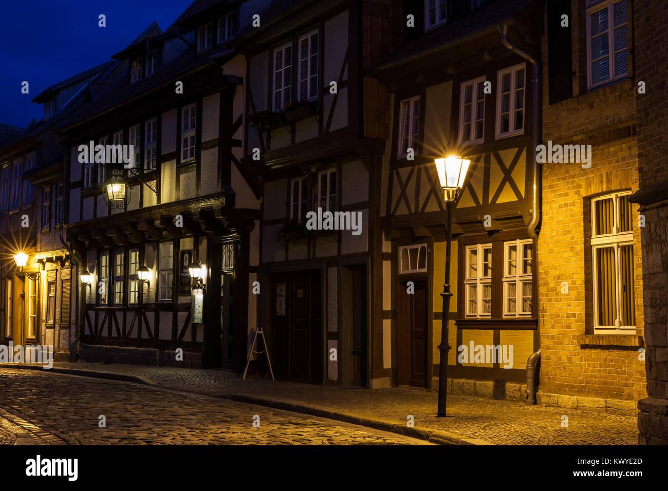 Weltkulturerbestadt Quedlinburg Bilder aus der historischen Stadt im Harz - Stock Image