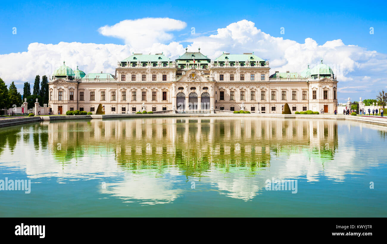 The Belvedere Palace is a historic building complex in Vienna, Austria. Belvedere was built as a summer residence - Stock Image