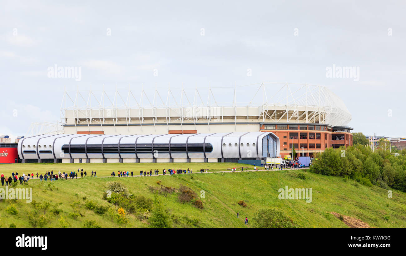 The Stadium of Light, home of Sunderland Football Club in Sunderland, England. - Stock Image