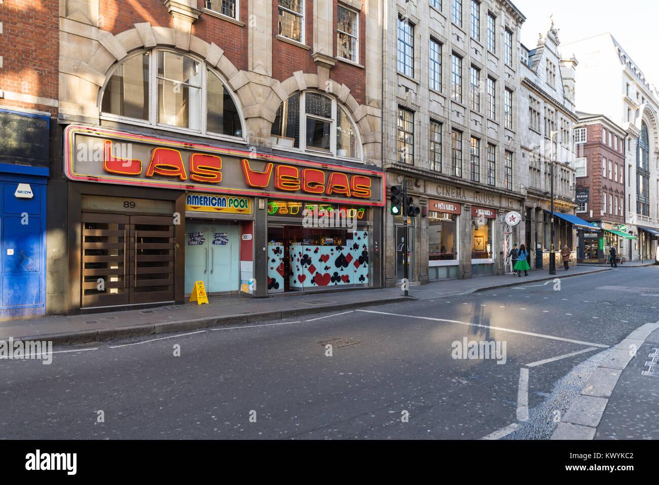 The Las Vegas Arcade in Wardour Street, Soho, London, England, UK. - Stock Image