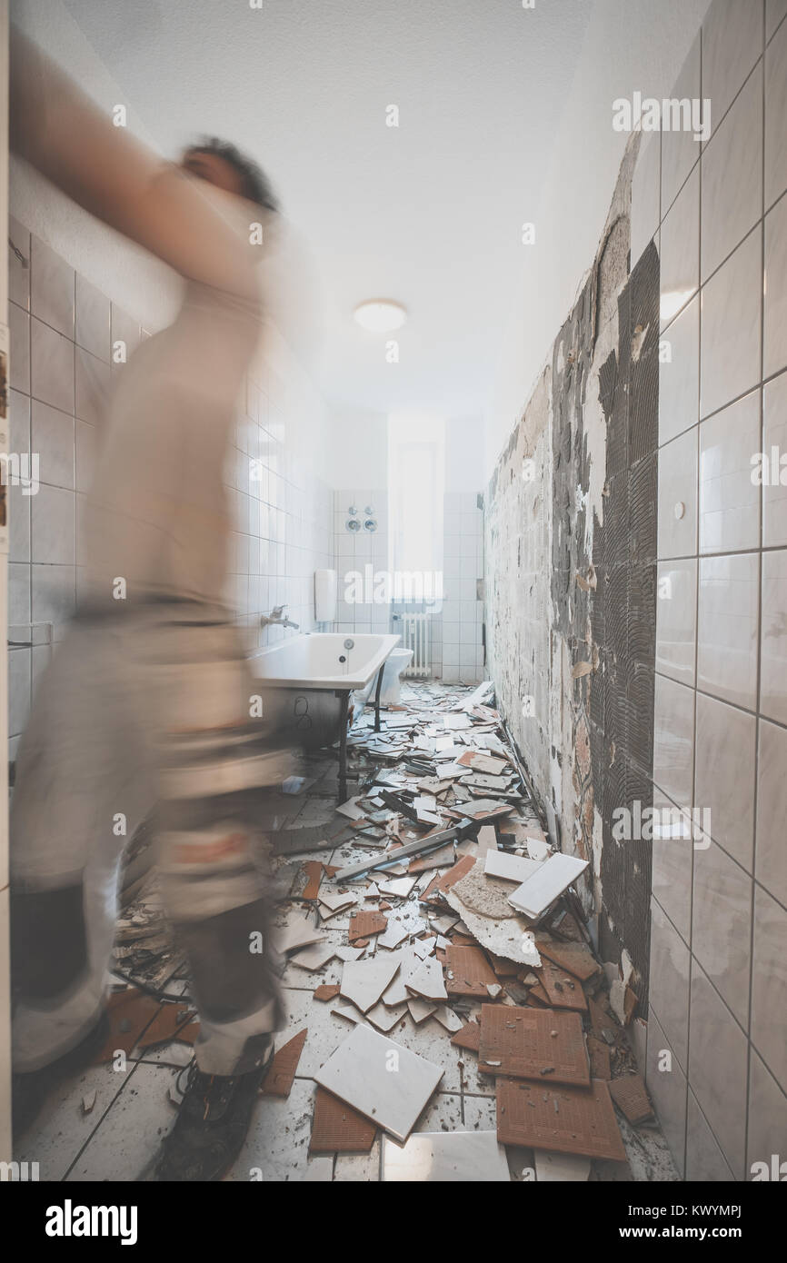 Removing Wall Tiles Stock Photos & Removing Wall Tiles Stock Images ...