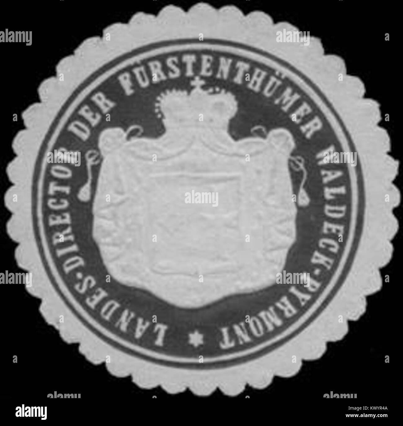 Siegelmarke Landes Director Der Furstenthumer Waldeck Pyrmont W0361807