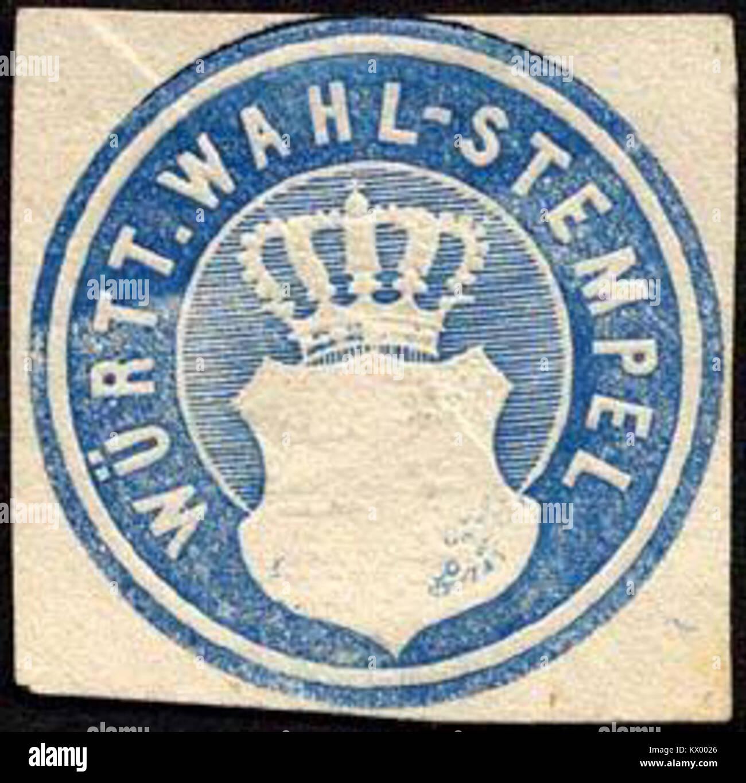 Siegelmarke Württembergische Wahl - Stempel W0227398 - Stock Image