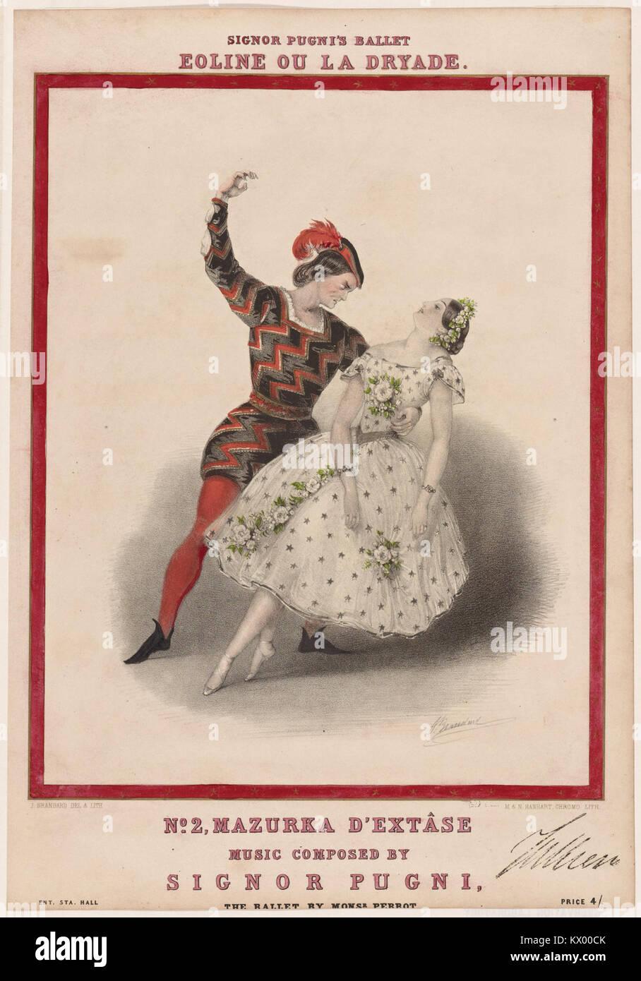 Signor Pugni's ballet Eoline ou La dryade. No. 2, Mazurka d'extâse (NYPL b12149115-5191079) Stock Photo