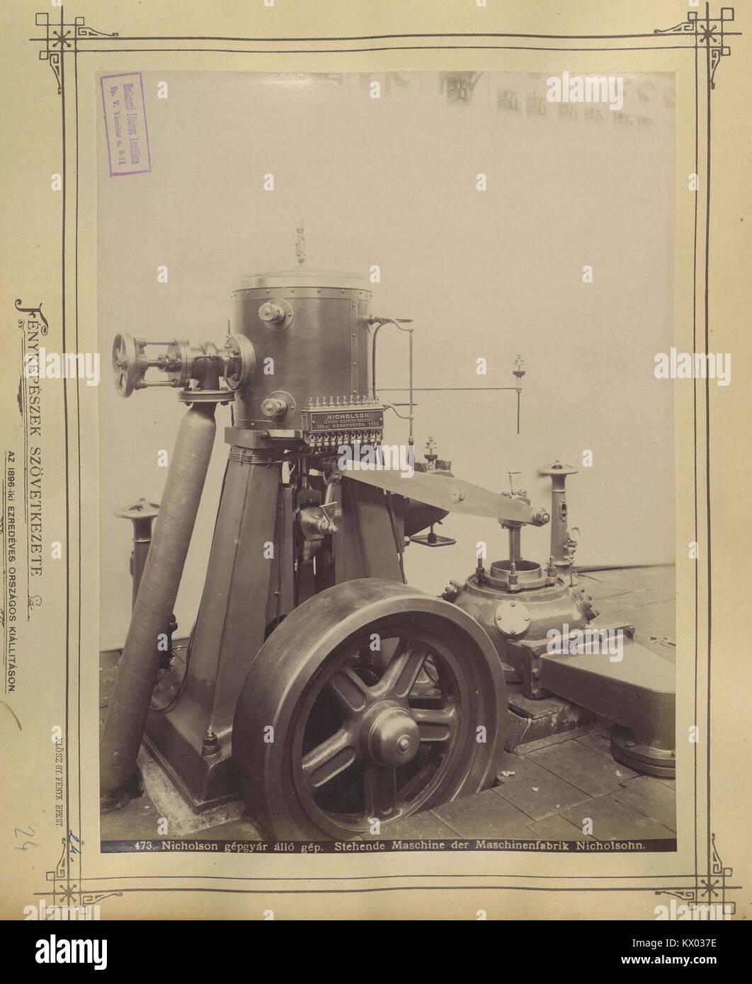 Millenniumi kiállítás, az újpesti Nicholson Gépgyár terméke, Budapest XIV. Fortepan - Stock Image