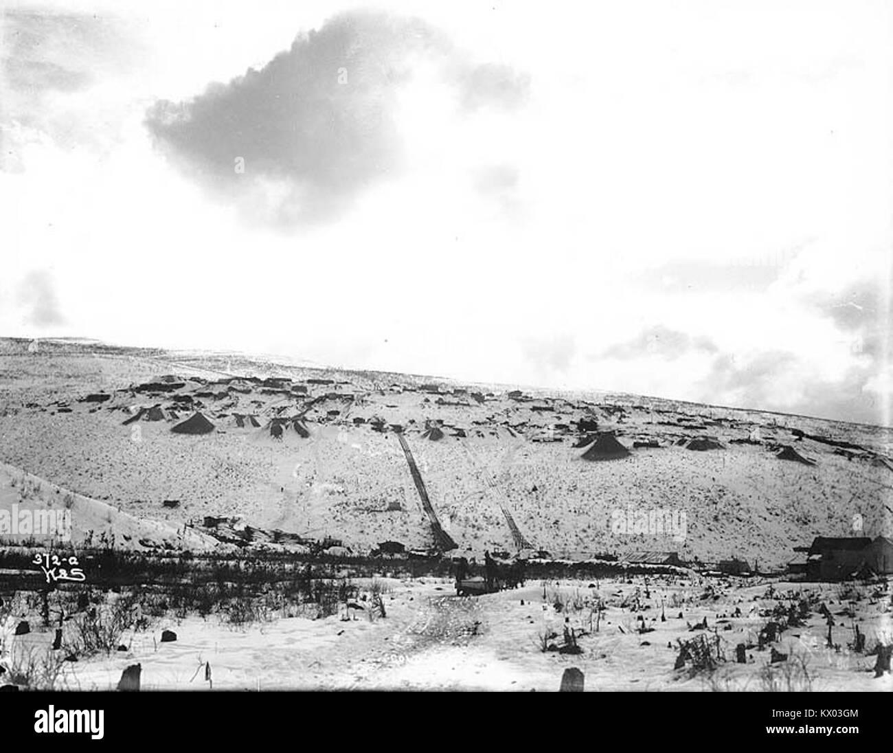 Mining claims on Gold Hill, Yukon Territory, ca 1898 (HEGG 315) - Stock Image