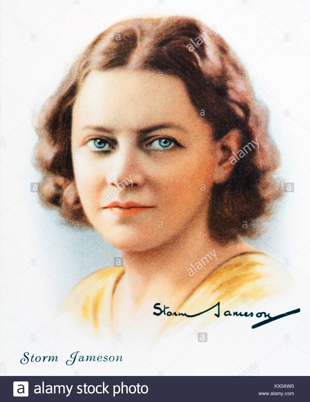 Storm Jameson was an English journalist and author 1891 – 1986 - Stock Image