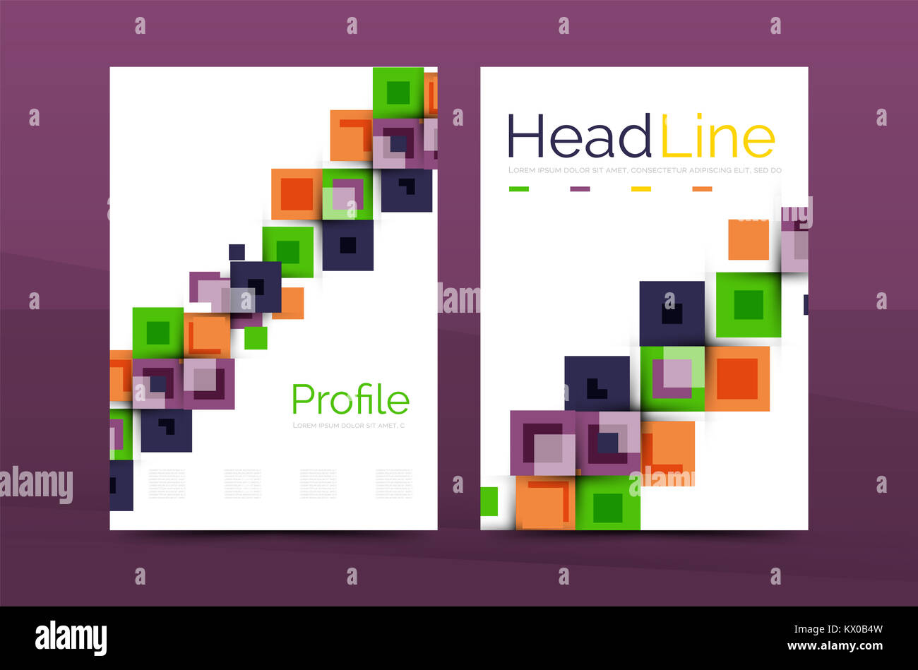 Set of front and back a4 size pages business annual report design set of front and back a4 size pages business annual report design templates geometric square shapes backgrounds illustration accmission Choice Image
