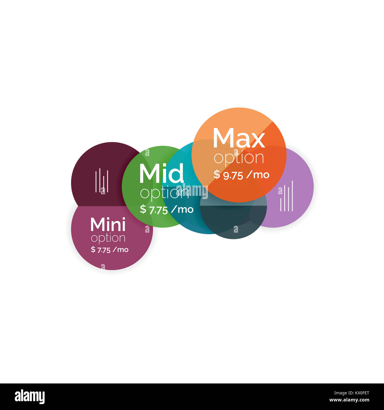 Circle business option diagrams select your product with sample circle business option diagrams select your product with sample options a4 size geometric template brochure flyer presentation or web design bac ccuart Choice Image