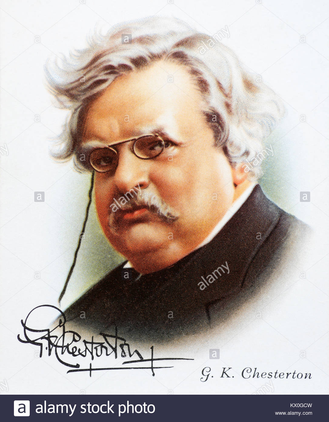 G.K. Chesterton was an English writer, poet and journalist 1874 – 1936 - Stock Image