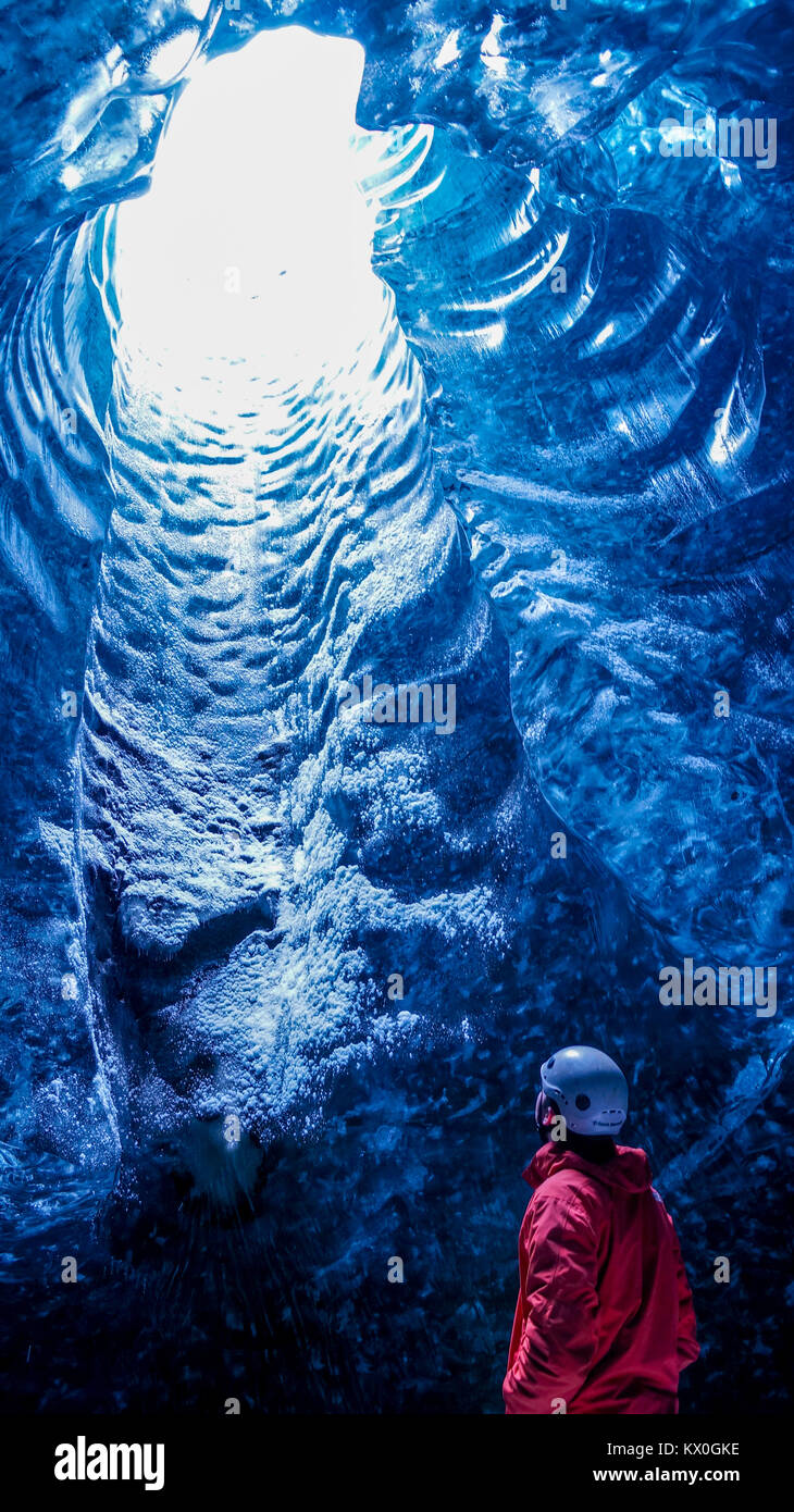 Ice Cave in Iceland - Stock Image