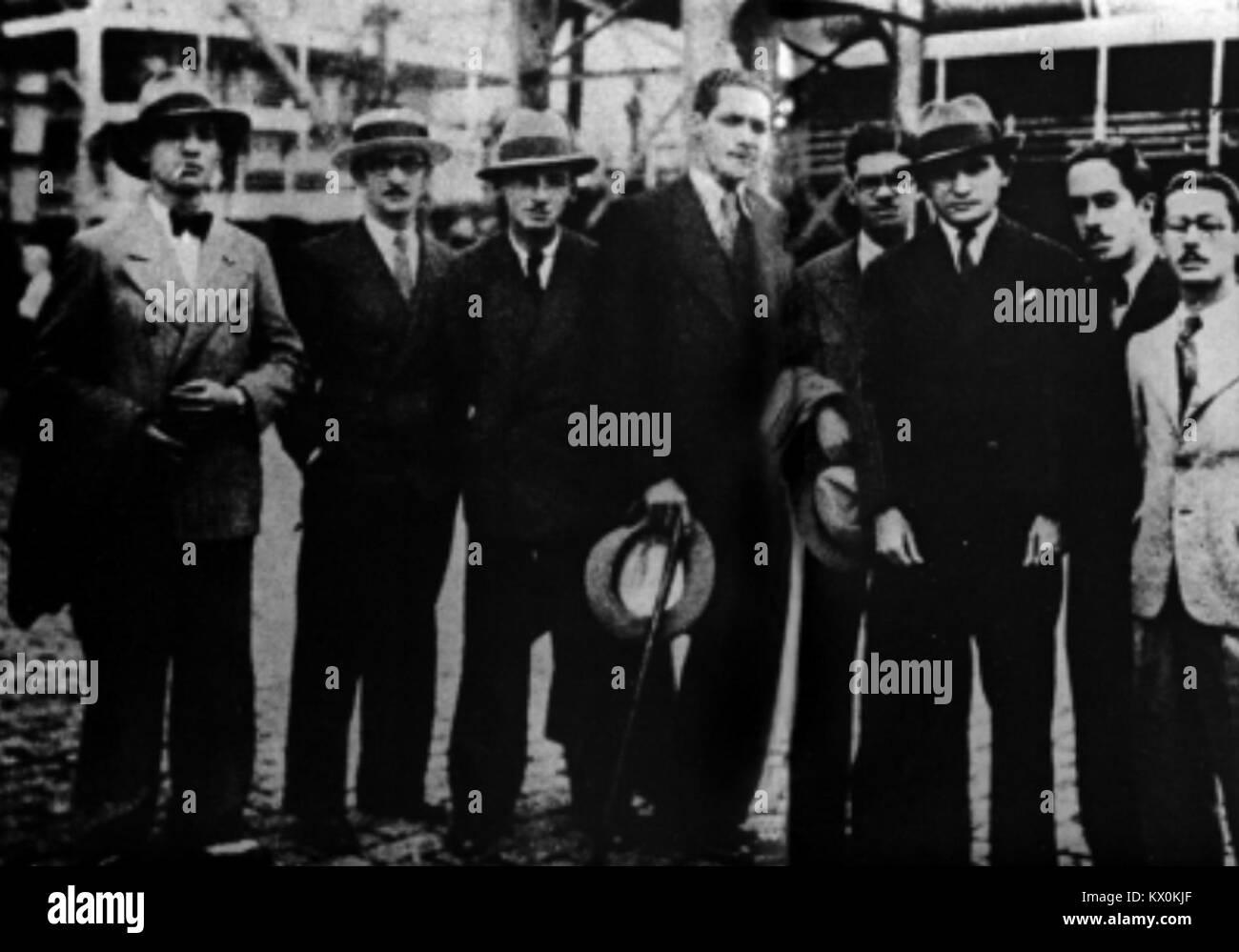 Membros da Academia dos Rebeldes (1923) - Stock Image