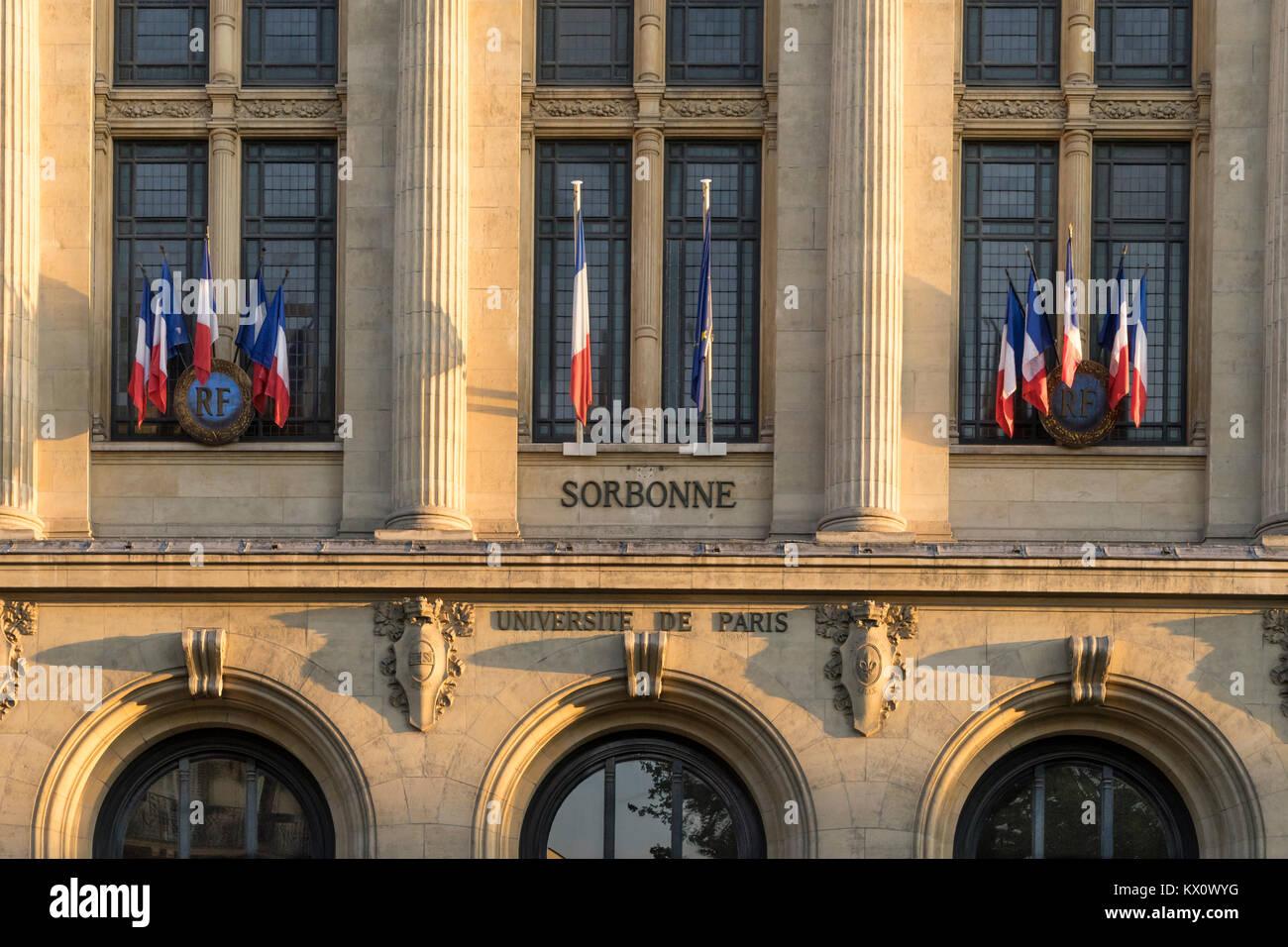 Sorbonne, University of Paris, Paris France - Stock Image