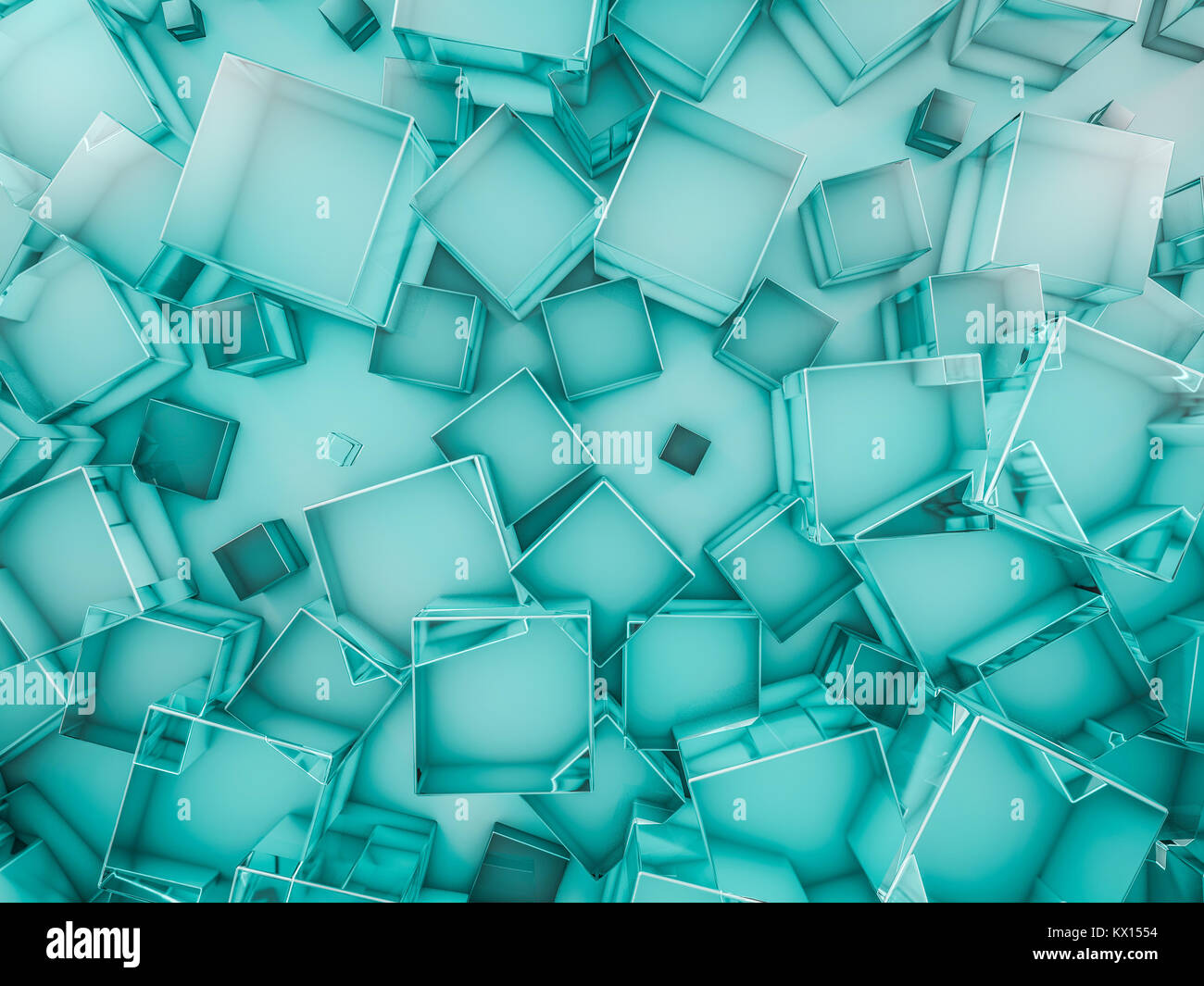 Hexagon abstract glass background. 3D rendering - Stock Image