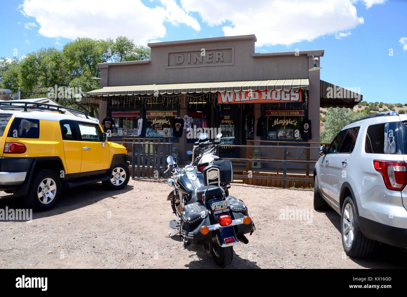 maggies diner setting for wild hogs movie in madrid new mexico - Stock Image