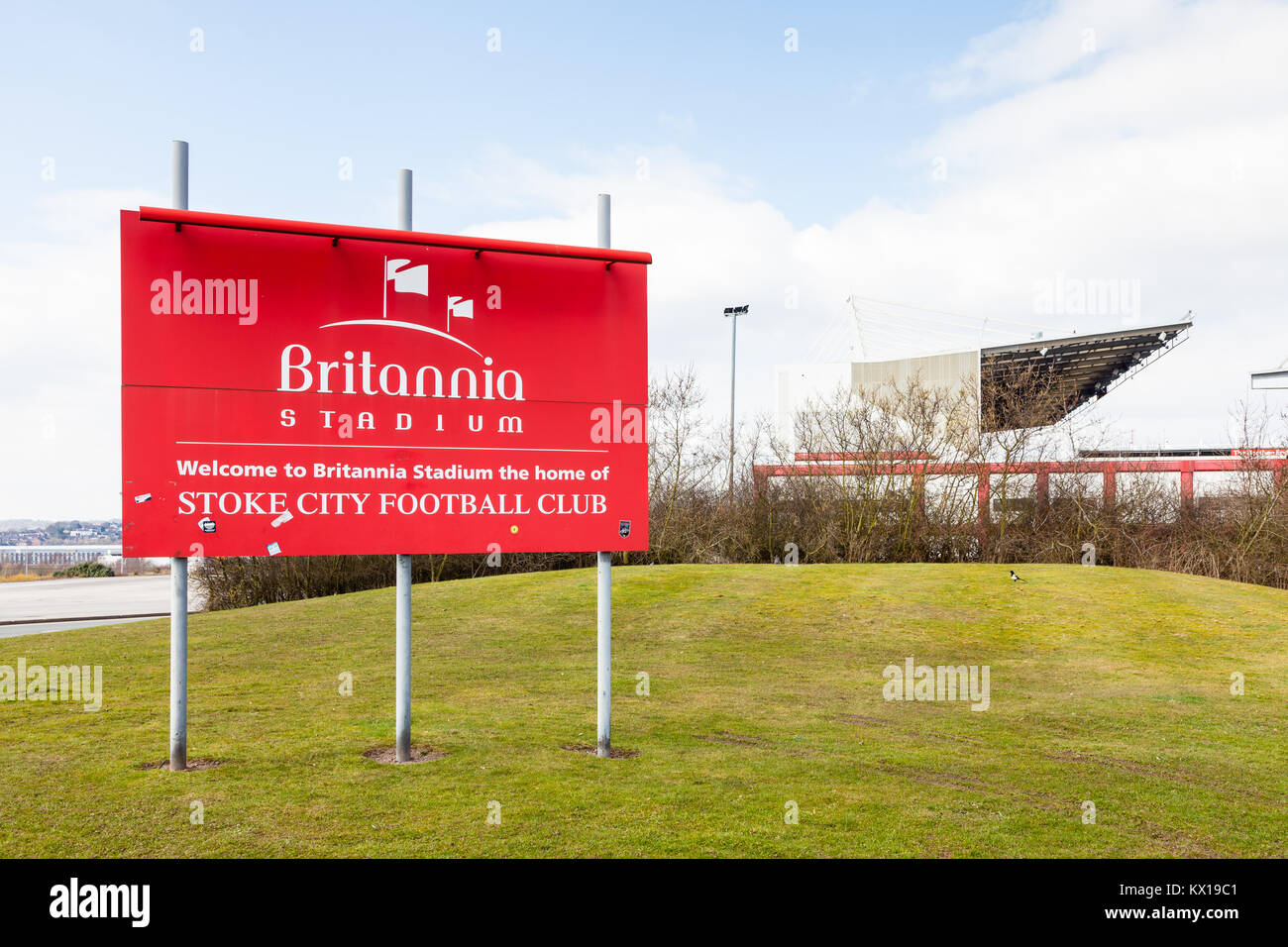 The Britannia Stadium home of Stoke City Football Club in Stoke-On-Trent, England.  The stadium has since been renamed - Stock Image