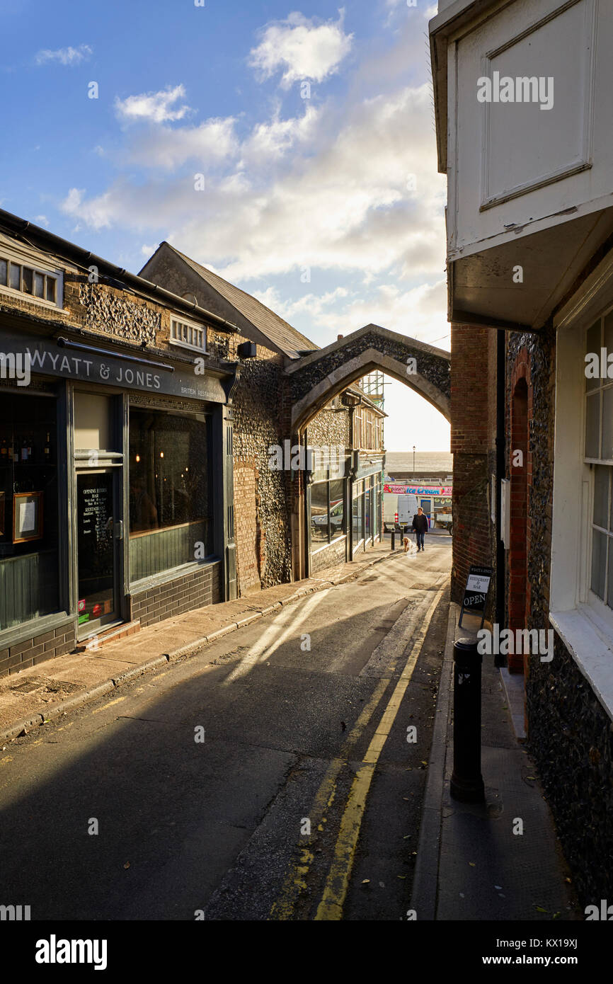 Wyatt & Jones British Restaurant in Broadstairs, Kent - Stock Image