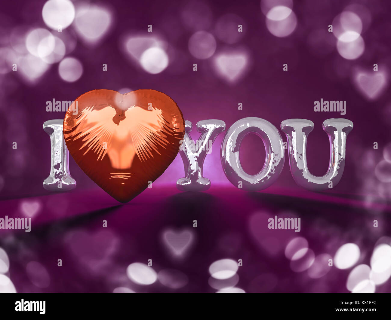 Letters Love Heart Symbol 3d Stock Photos Letters Love Heart