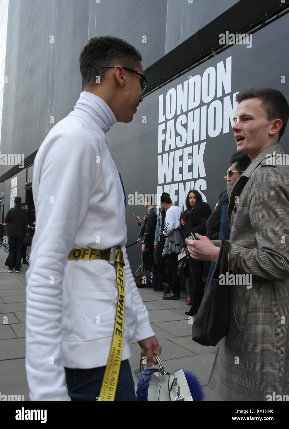 London Uk 6th Jan 2018 Street Style At London Fashion Week Men S