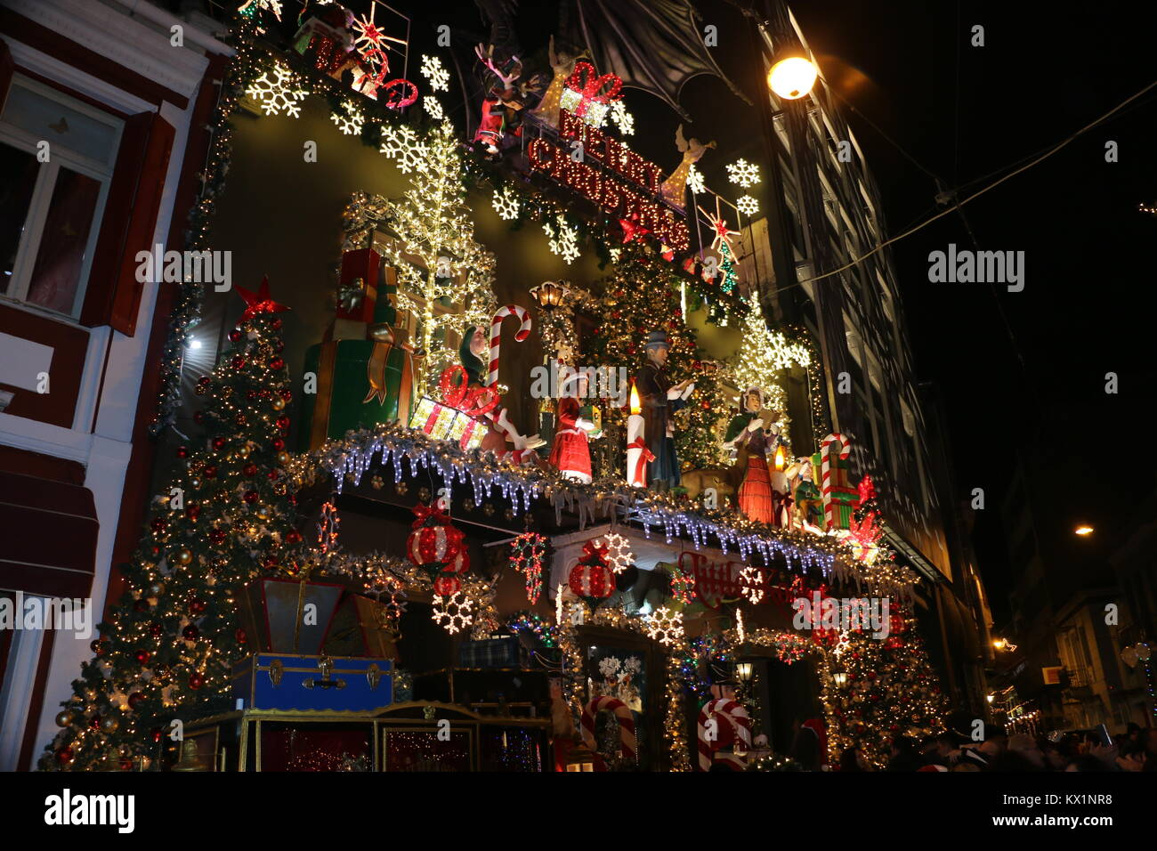 Athens, Greece. 31st Dec, 2017. Christmas decorations at ...