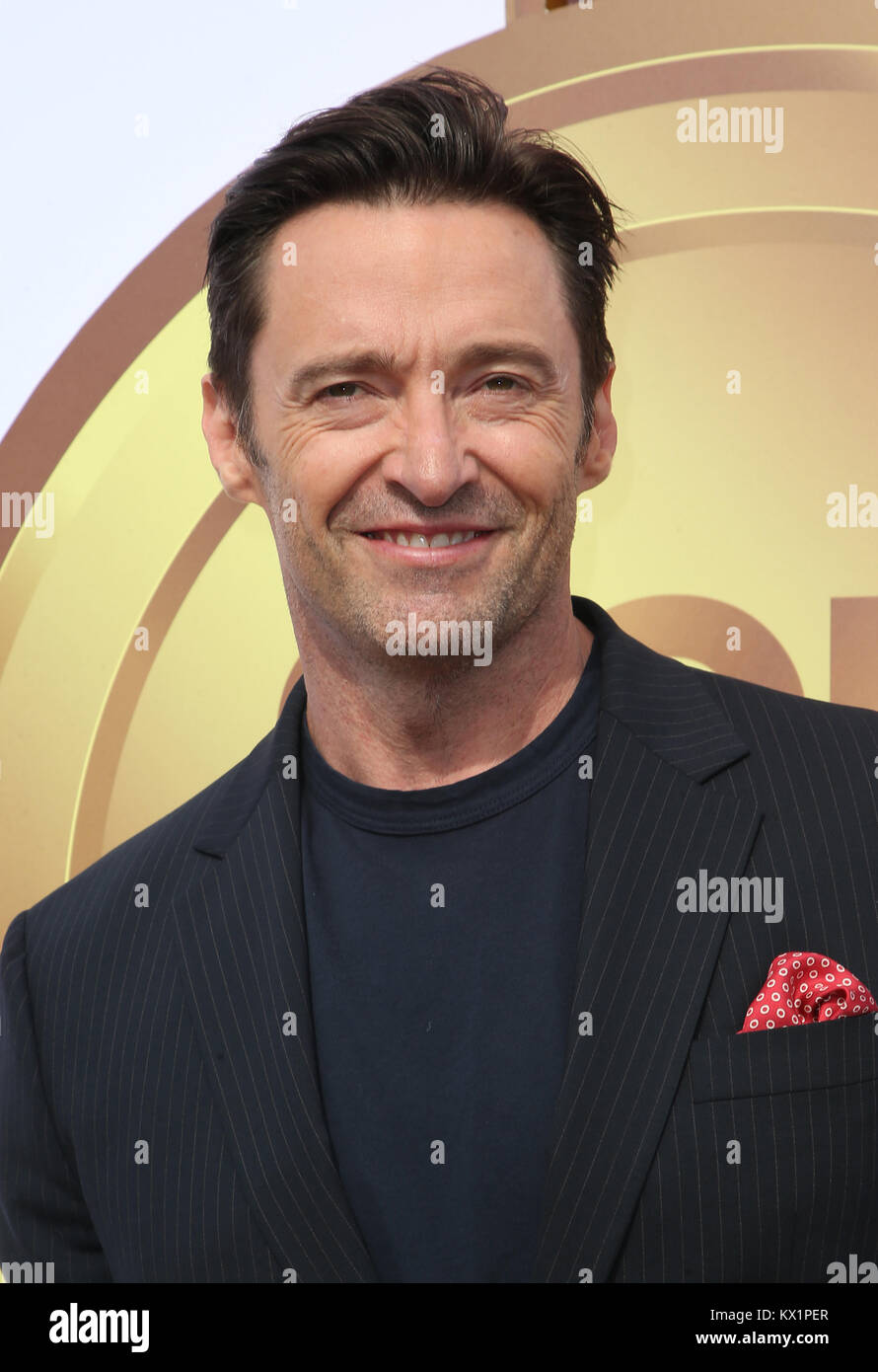 West Hollywood, Ca. 6th Jan, 2018. Hugh Jackman at the Gold Meets Golden 5th Anniversary party at The House On Sunset - Stock Image