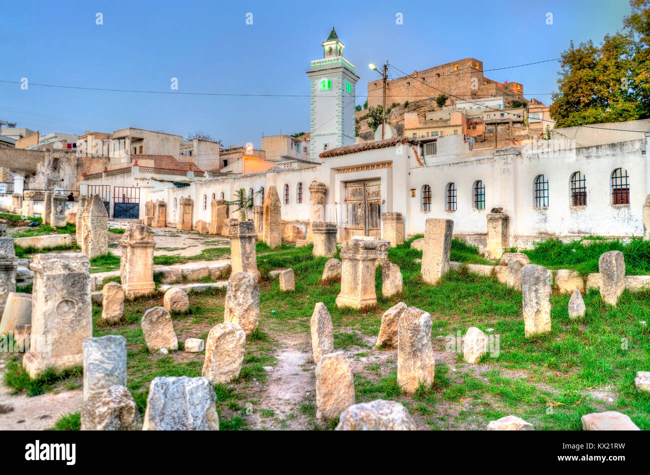 Ruins of the Roman temple in el Kef, Tunisia - Stock Image