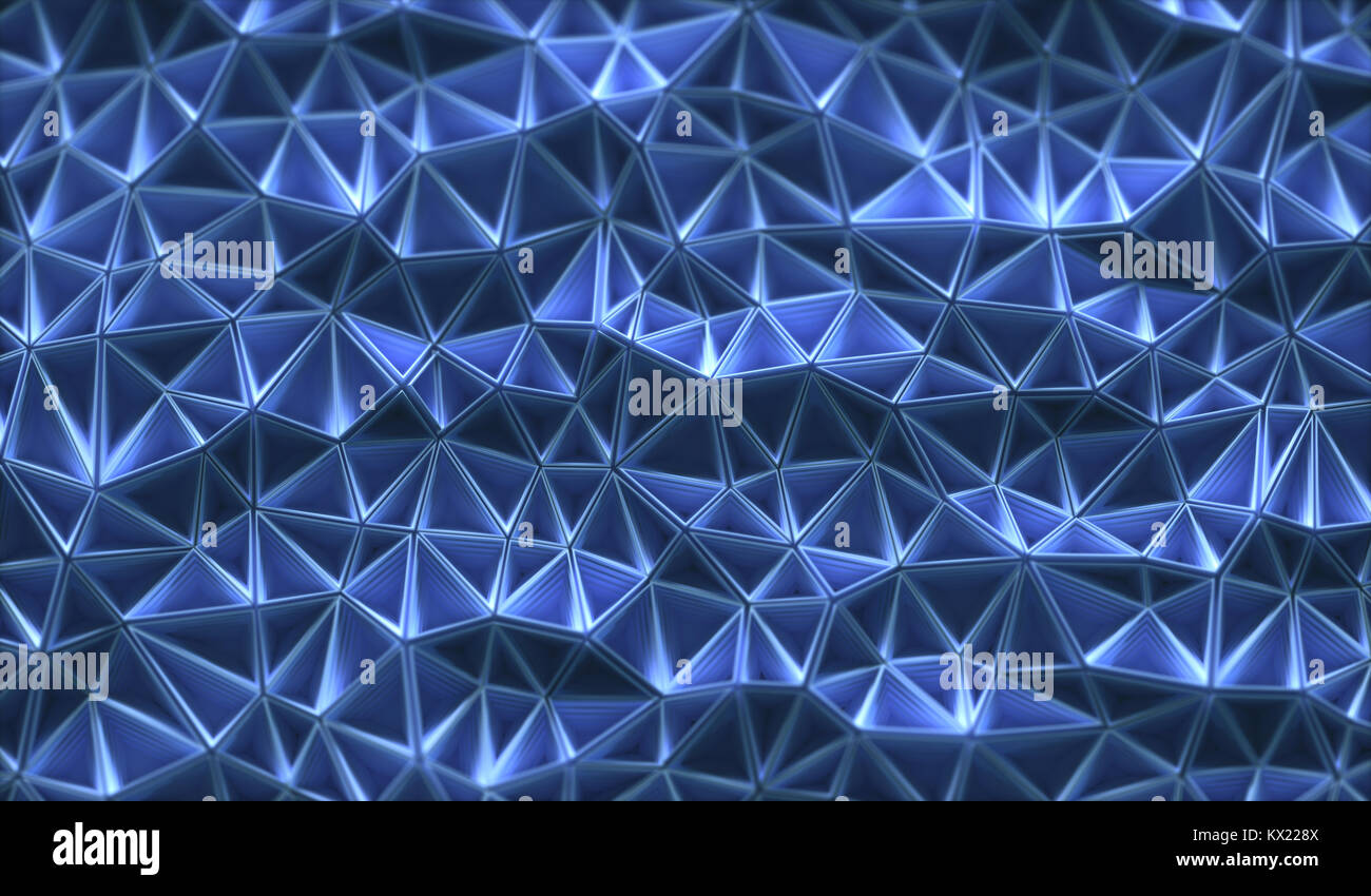 Connecting triangular shapes, illustration. - Stock Image