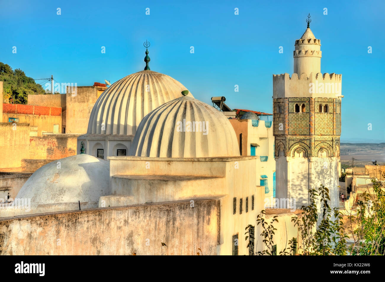 Sidi Bou Makhlouf Mosque at El Kef in Tunisia - Stock Image