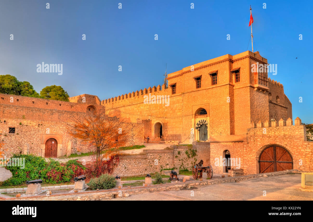 The Kasbah, a medieval fortress in le Kef, Tunisia - Stock Image