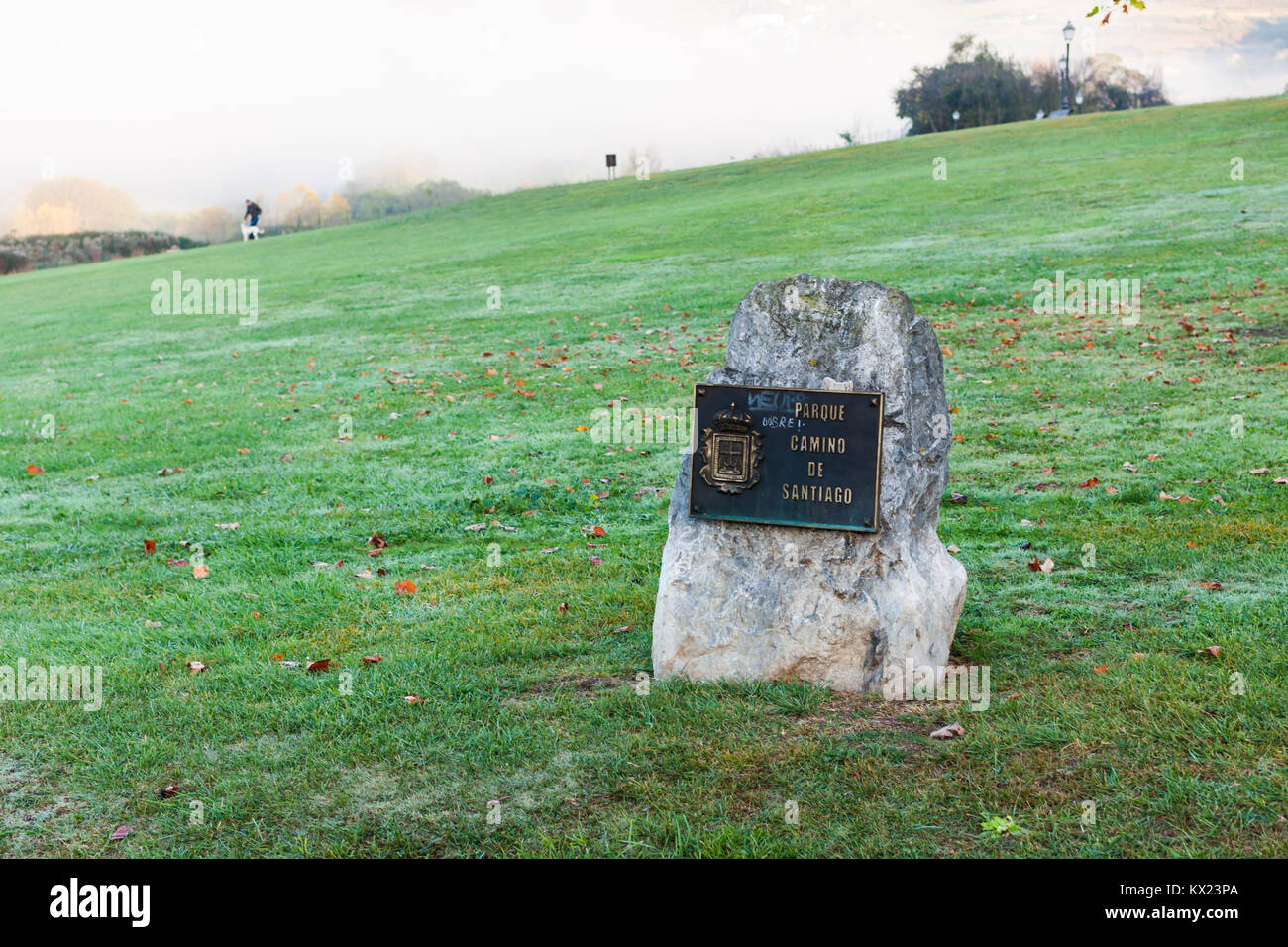 Parque del Camino de Santiago (Park of the Way of Saint James) in Oviedo, Asturias, Spain - Stock Image