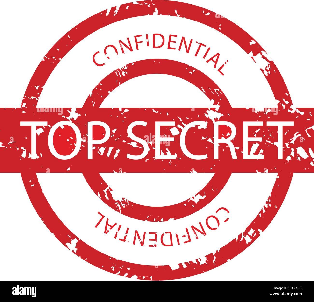 Top Secret Confidential Rubber Stamp Vector Grunge Seal Private And Print Military Illustration