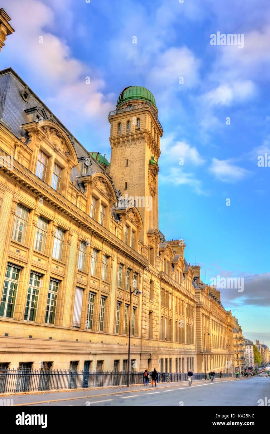 Facade of Paris-Sorbonne University in France - Stock Image